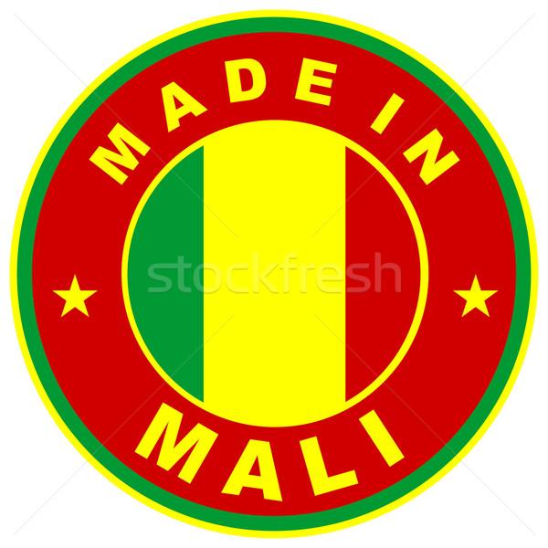 Mali duży rozmiar kraju etykiety podpisania Zdjęcia stock © tony4urban