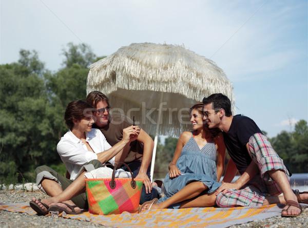 Estate vacanze gruppo adolescenti foto Foto d'archivio © toocan