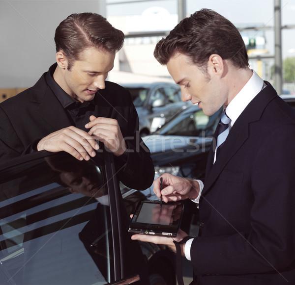 Hommes d'affaires portable élégant ordinateur portable affaires ordinateur Photo stock © toocan