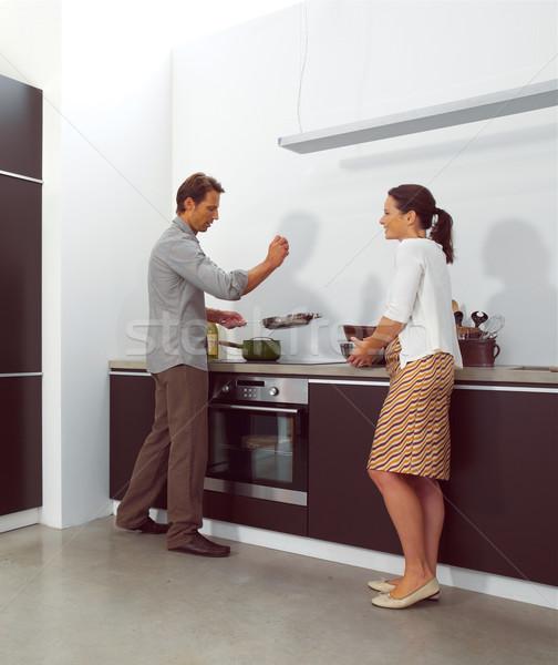Lavoro cucina faccia uomo home Foto d'archivio © toocan