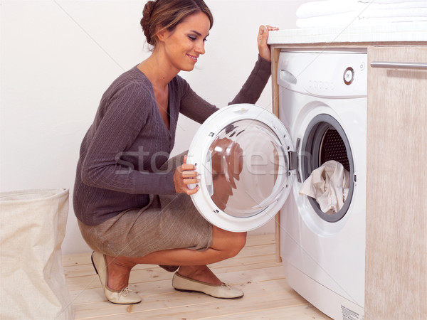 Housework of young woman Stock photo © toocan