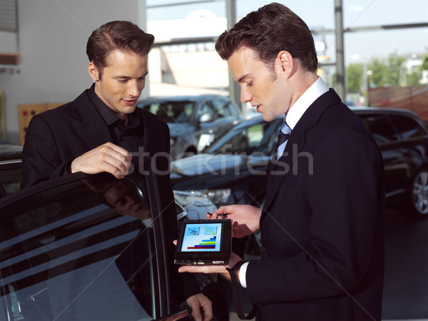 a Car salesperson opi Stock photo © toocan