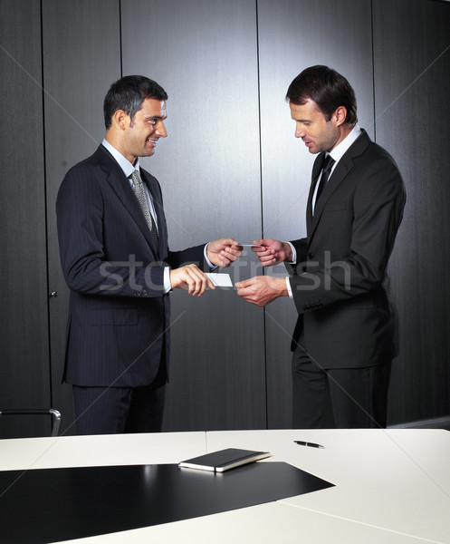 changing business cards Stock photo © toocan