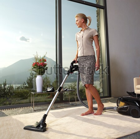 housewife with vacuum cleaner Stock photo © toocan