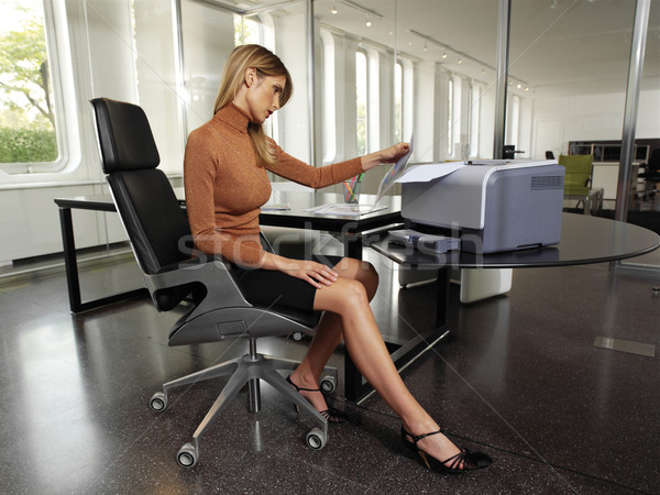 woman with copy machine ssr Stock photo © toocan