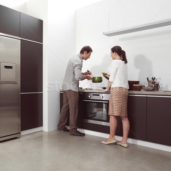 Cucina attrattivo felice divertimento interni Foto d'archivio © toocan