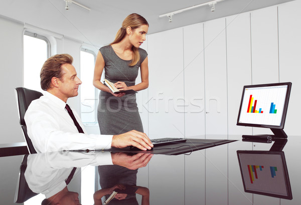 Сток-фото: Boss · секретарь · помогают · тип · документа · бизнеса