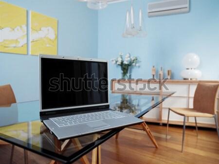 Business ufficio moderno decorazione computer laptop Foto d'archivio © toocan