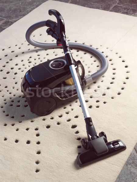 Aspirapolvere tappeto pulizia donna lavoro home Foto d'archivio © toocan