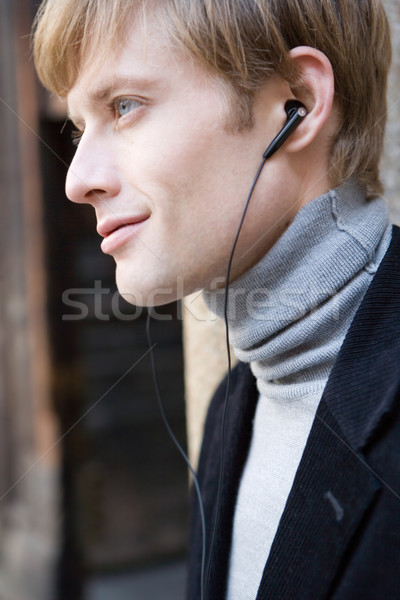 man listens to music Stock photo © toocan