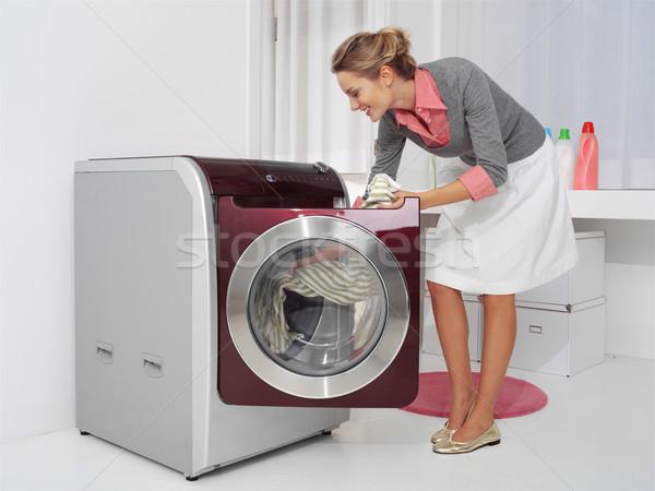 Lavanderia lavori di casa donna casa home Foto d'archivio © toocan