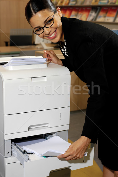 Pretty young businesswoman Stock photo © toocan