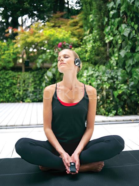 Donna yoga bella esercizio Foto d'archivio © toocan