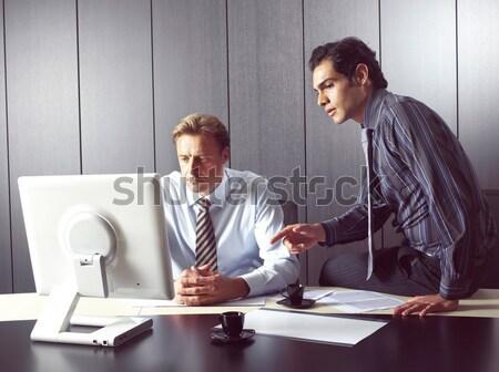 Gruppo uomini d'affari lavoro open aria ufficio Foto d'archivio © toocan