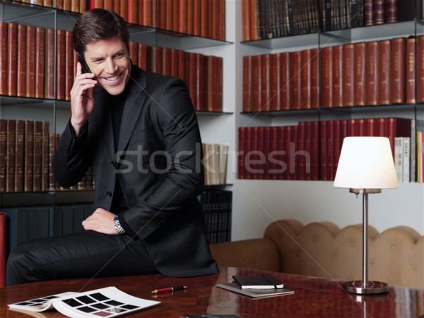 Businessman working at office aa Stock photo © toocan