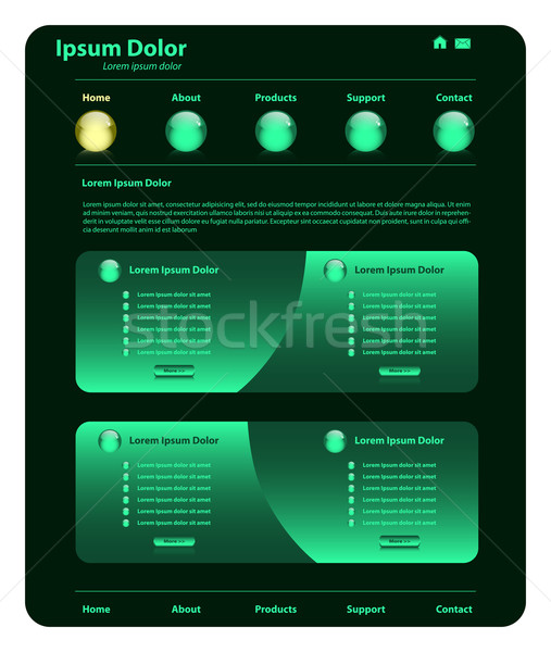 Website template design green Stock photo © toots