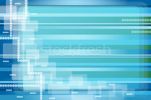 Abstract Blauw groene transparant pleinen Stockfoto © toots