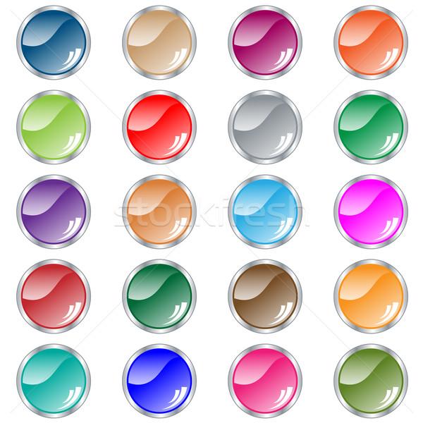 Stockfoto: Web · knoppen · ingesteld · 20 · kleuren