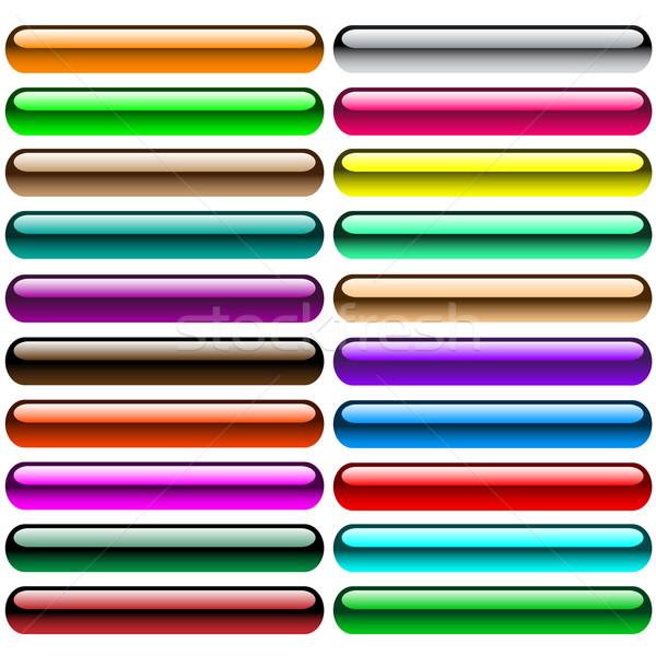 Parlak jel web düğmeler parlak ayarlamak Stok fotoğraf © toots