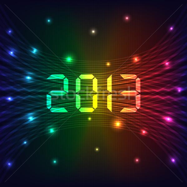 2013 明けましておめでとうございます お祝い ネオン ライト ストックフォト © toots