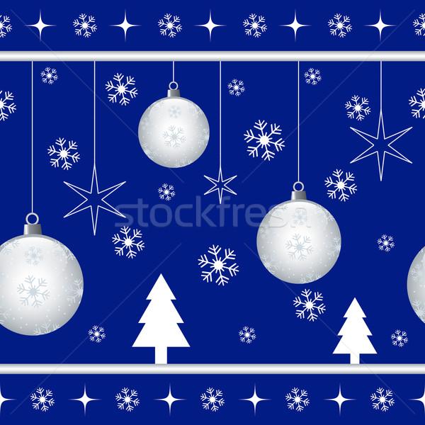 Christmas kerstmis sterren sneeuwvlokken Stockfoto © toots