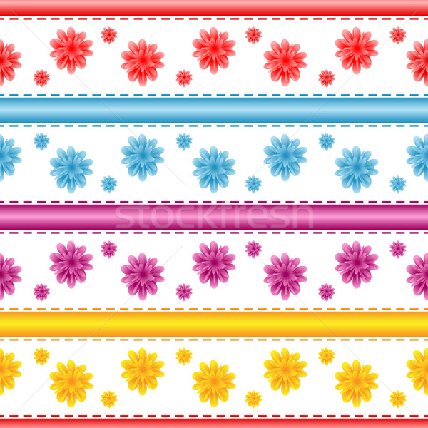 Seamless flower pattern Stock photo © toots