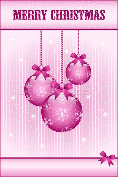 Steeg roze christmas bogen ingericht Stockfoto © toots