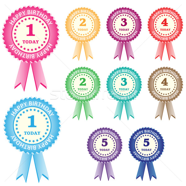 Birthday rosettes for children Stock photo © toots