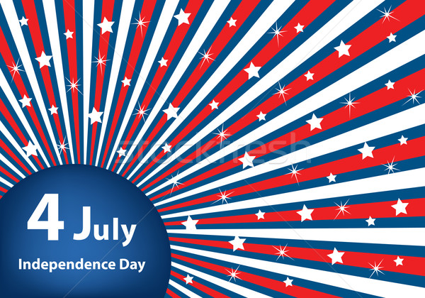 Stock photo: 4 July independence day background