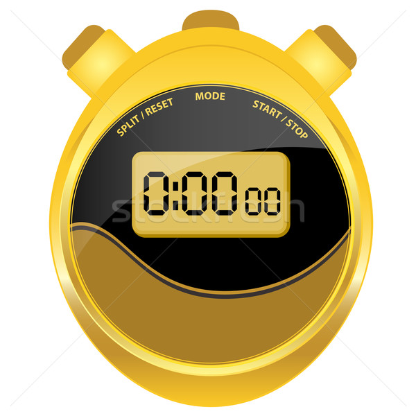 Digital stopwatch modern oval style Stock photo © toots