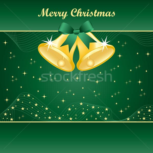 Or Noël vert joli arc jaune Photo stock © toots