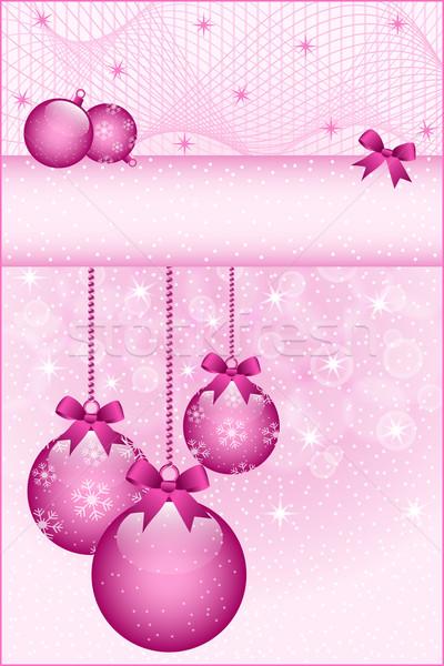 Rose rose Noël arcs décoré Photo stock © toots