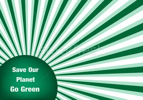 Groene abstract verplaatsen milieuvriendelijk planeet aarde Stockfoto © toots