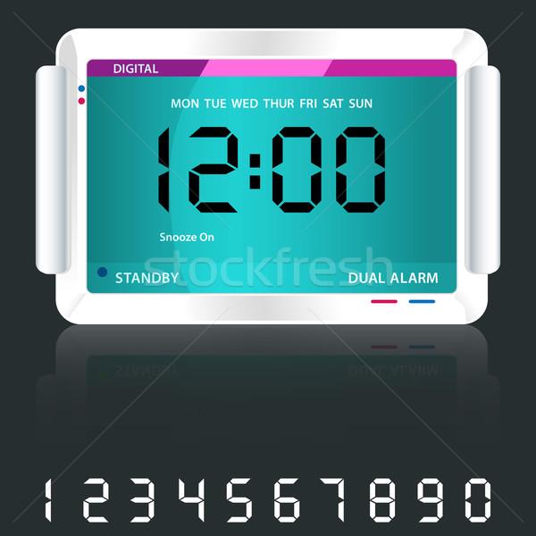 Digital alarm clock blue Stock photo © toots