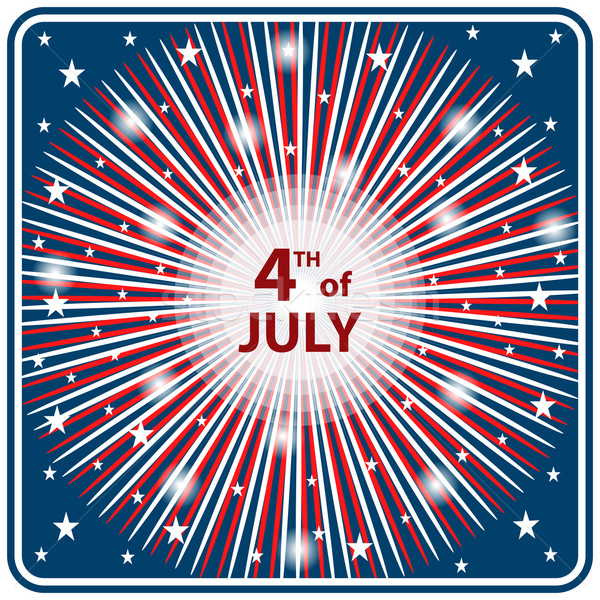 4th July independence day starburst Stock photo © toots