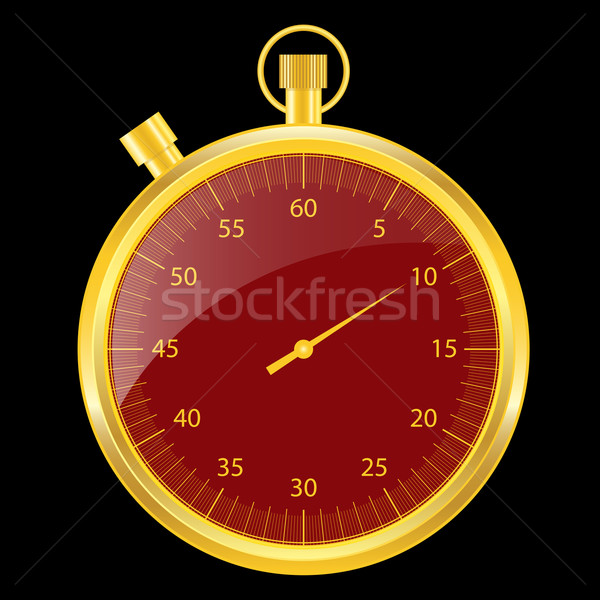 Stopwatch gold and red Stock photo © toots