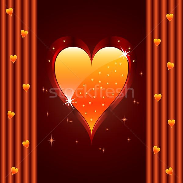Szeretet szív Valentin nap házassági évforduló valentin nap fényes Stock fotó © toots