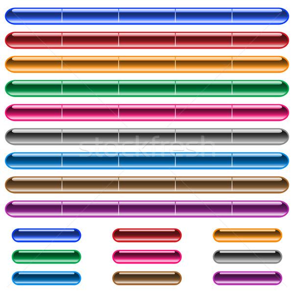 Stockfoto: Web · knoppen · navigatie · bars · glanzend · gel