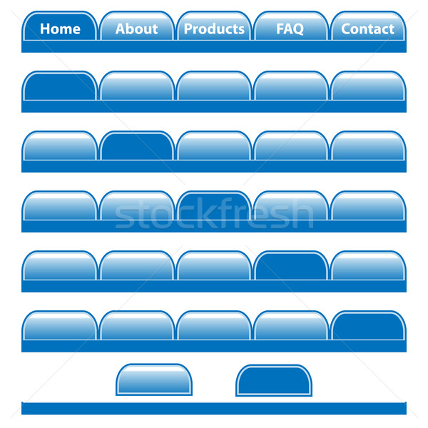 Web buttons navigation bars set. Isolated on white. Stock photo © toots