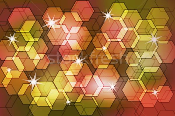 Foto stock: Abstrato · bokeh · efeito · polígono · cores · decorado