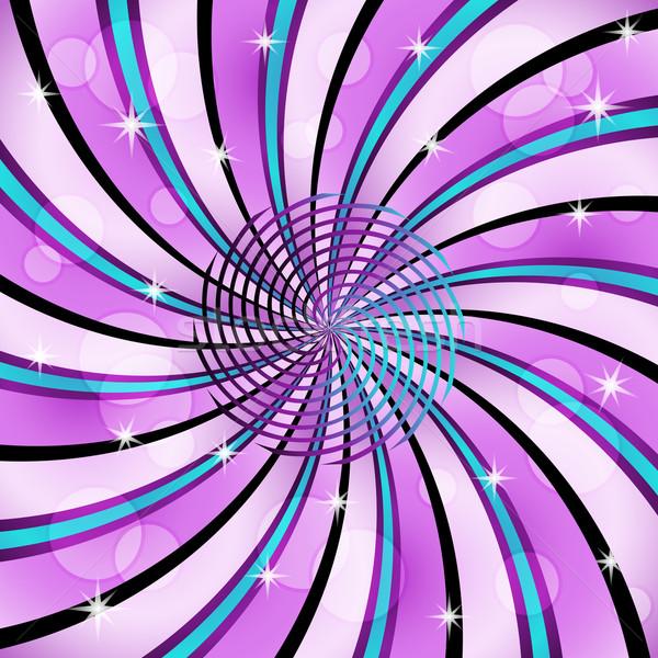 Centre spirale décoré étoiles transparent Photo stock © toots