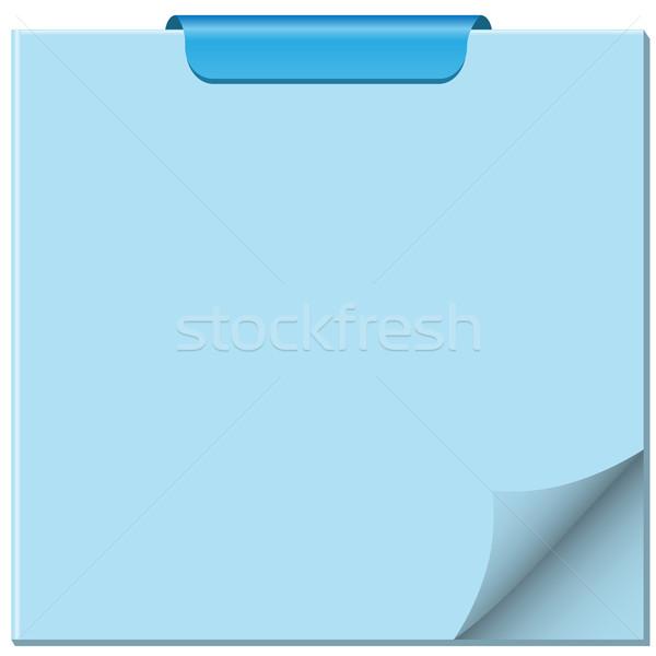 Bloc de notas página acurrucado clip superior espacio de la copia Foto stock © toots