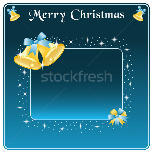 Noël or arc bleu faire sauter étoiles Photo stock © toots