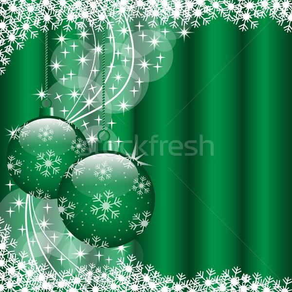 Noël vert Noël scène suspendu Photo stock © toots