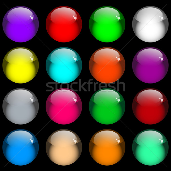 Glossy gel web buttons Stock photo © toots