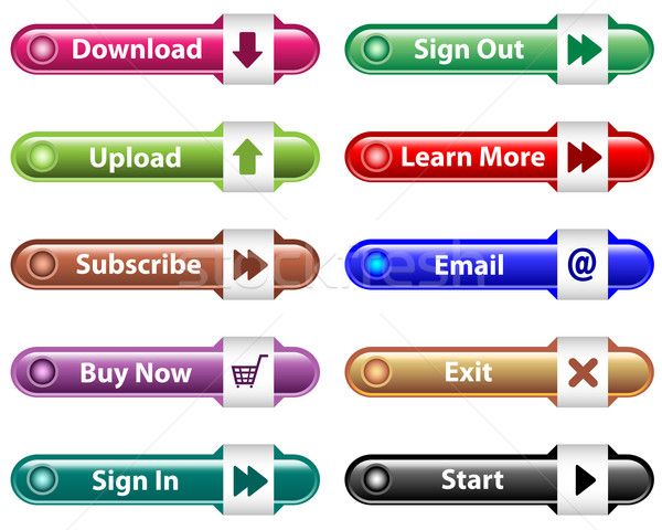 Web buttons with icons Stock photo © toots