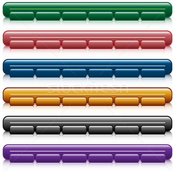 Web navigation bars Stock photo © toots