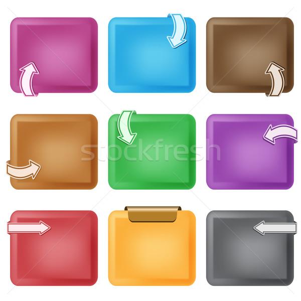 Business ontwerp communie pijlen dozen kleuren Stockfoto © toots