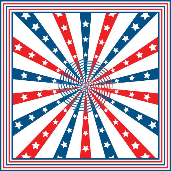 Foto stock: Bandeira · americana · estrelas · vermelho · liberdade