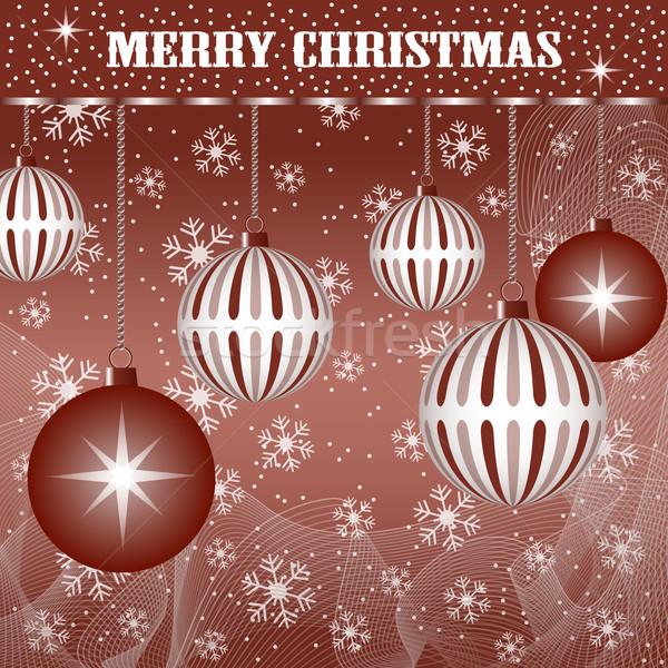 Noël décoration brun Noël scène Photo stock © toots